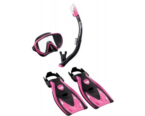 Комплект маска+трубка+ласты UP-1521 Black Series