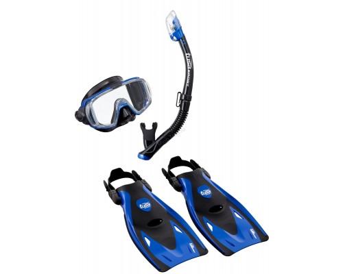 Комплект маска+трубка+ласты UP-3521 Black Series
